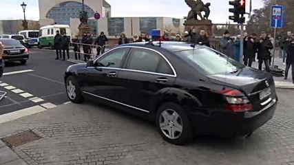 Germany: Motorcades make way to German Chancellery for Libyan peace talks