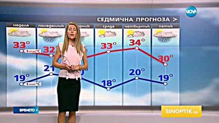 Прогноза за времето (07.08.2016 - обедна емисия)