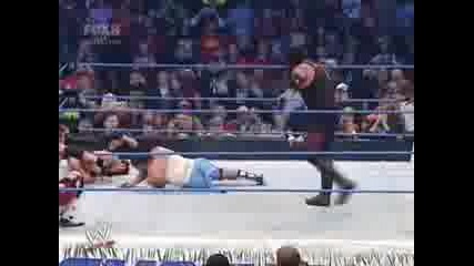Undertaker clears the ring. 12607 Sd!