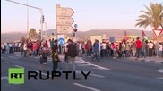 Israel: Protesters rally in solidarity with hunger striker Mohammed Allan