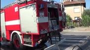 Автомобил горя в движение в Благоевград