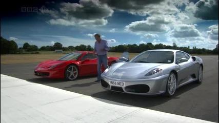 Ferrari 458 Italia vs F430 - Top Gear