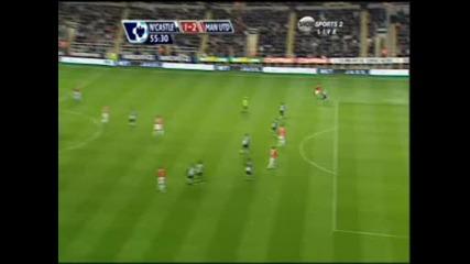 Димитър Бербатов В Решителен Гол За Манчестър Юнайтед При Победата Над Нюкасъл С 2:1
