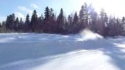 Супер снегоходи-коментар на руски