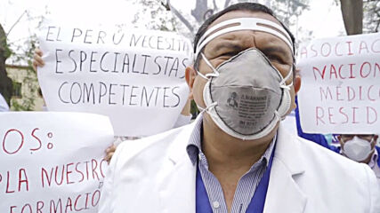 Peru: Health worker rally in Lima kicks off 48-hour strike over working conditions