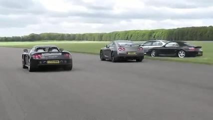 Porsche Carrera Gt срещу Nissan R35 Gtr
