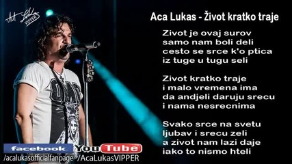 Aca Lukas - Zivot kratko traje - (Audio - Live)