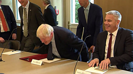 Luxembourg: Johnson holds Brexit talks with PM Bettel