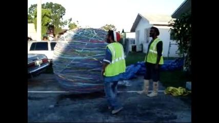 - Световен рекорд на Гинес , Най - голямата гумена топка