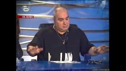 !Скандал! Иван казва на Фънки тоя дебелияа тои иска да го изхвърли с тупаници!! music idol 2 - 12.03.2008г. (супер качество)