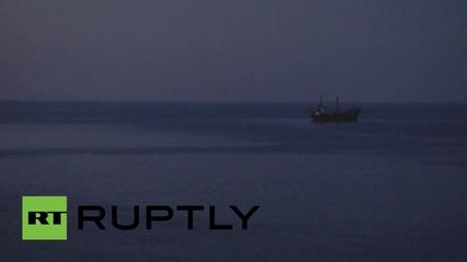 Средиземно море: Немски боен кораб спасява близ 95 мигранти