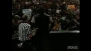 WWF Скалата, Остин и Винс Макмеън Срещу Трите Хикса, Гробаря и Шейн Макмеън **HQ**