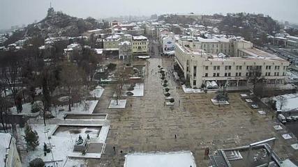 Сняг и в Пловдив