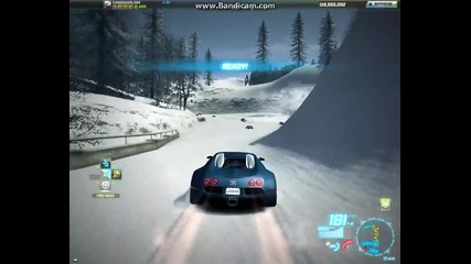 Need For Speed World : Snow fun with Bugatti Veyron
