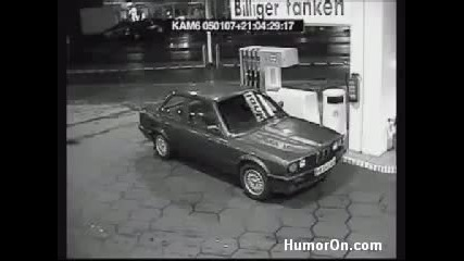 Жена на бензиностанцията - Смях