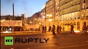 Greece: Police pelted with MOLOTOV COCKTAILS as parliament votes on debt deal