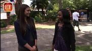 Nina Dobrev interviews Gabby Douglas