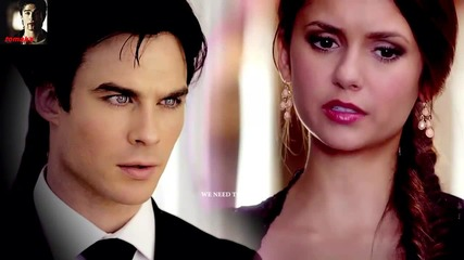 Страхотно парче! Damon and Elena - Stupid Inlove ( неофициално видео )