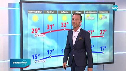 Прогноза за времето (09.07.2020 - централна емисия)