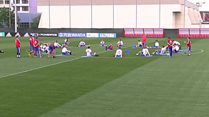 Russia: Russia squad gets back to training one day after victory