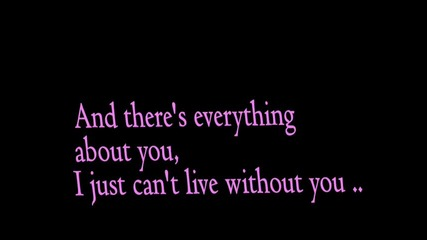 Justin Bieber - Can`t live without you [ + Текст ]