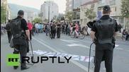 Протестиращите в Македония искат правителството да отстъпи в Скопие