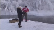 Как се ходи на баня в Сибир при минус 52 градуса !