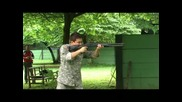 Denny Ajd shoots Benelli M4 shotgun military version.