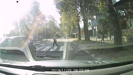 Отнемане на предимство на пешеходец