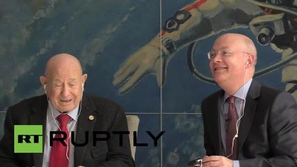 UK: Legendary cosmonaut Alexei Leonov speaks at London Science Museum