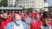 Belgium: Union workers in Brussels march for higher salaries, demand law change