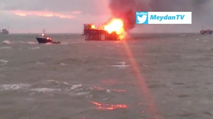 Azerbaijan: Huge blaze rips through oil platform in Caspian Sea, 32 killed