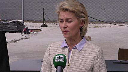 Germany: DefMin Von der Leyen launches training scheme for Syrian refugees
