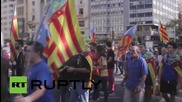 Spain: Valencian nationalists rally against Mayor Joan Ribo on national holiday