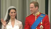 Целувката между Принц Уилям и Кейт