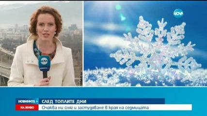 Сняг и студ в края на седмицата