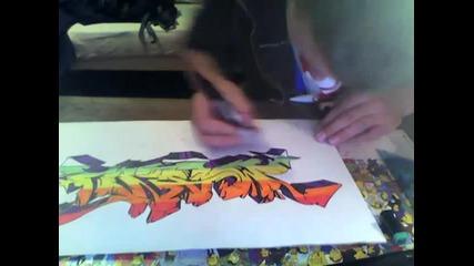*manu* Wildstyle Graffiti Drawing