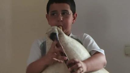10 годишно момче от Смолян, свири на гайда - така започна 12 ден от обиколката на Родопите с колела.