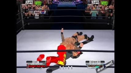 Wwf No Mercy - Randy Orton прави Rko на Rey Mysterio (заснето от мен)