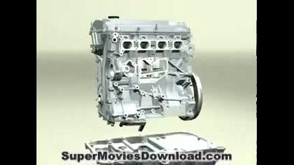 Как работи двигателя! - 3d анимация !