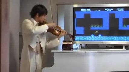 the tune of super mario on Цигулка!!! :d