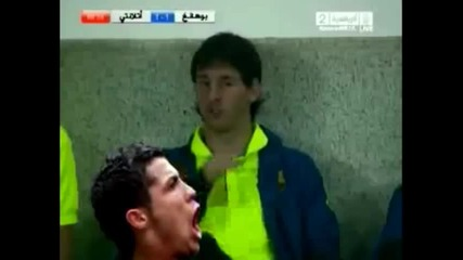 Меси забива шамар на Роналдо