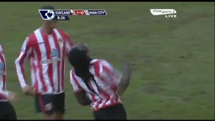 Sunderland 1 - 0 Manchester City * Kenwyne Jones