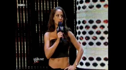 trish stratus in raw 14.09.2009 - guest hostess