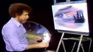 S09 Радостта на живописта с Bob Ross E05 - зима в овал ღобучение в рисуване, живописღ