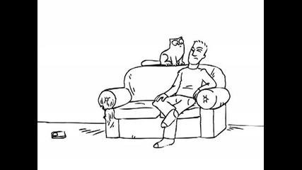 Simons Cat in Tv Dinner