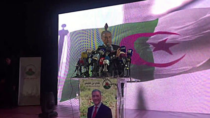 Algeria: Candidate Benflis holds final rally ahead of pres. elections