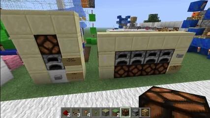 Minecraft Smart Furnaces Tutorial (kak da si napravim)