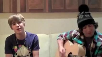 Sneak peek!!! Justin Bieber пее Baby [acoustic] + subs