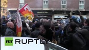 Italy: Clashes erupt as students and teachers protest Renzi's education reforms in Milan